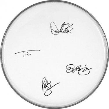 Bon Jovi Autographed Signed Clear Drumhead Jon Bon Jovi Richie Sambora ++