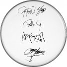 Kiss Gene Simmons Ace Frehley Paul Peter Autographed Signed Clear Drumhead