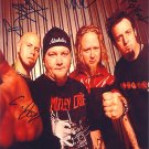 DROWNING POOL Autographed Preprint Signed Photo