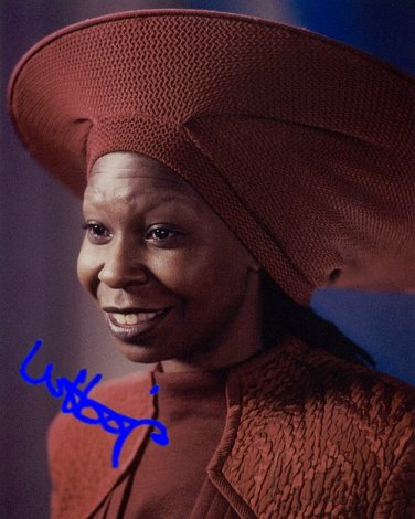GOLDBERGwhoopigoldberg Autographed Preprint Signed Photo