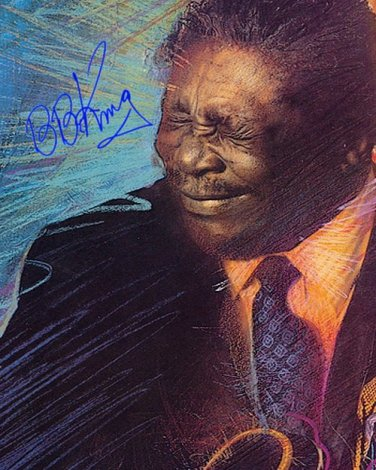 KINGBBcolor Autographed Preprint Signed Photo