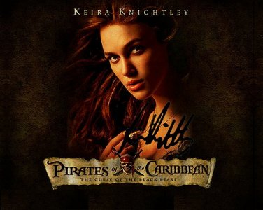 KnightleyKeira Autographed Preprint Signed Photo