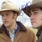 LedgerGyllenhaalbrokeback_mountain_auto Autographed Preprint Signed Photo