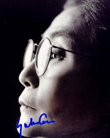 OnoYokoa Autographed Preprint Signed Photo