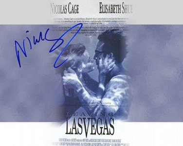 cageLeavingLasVegas Autographed Preprint Signed Photo