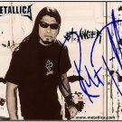 metallicaTrujilloST Autographed Preprint Signed Photo
