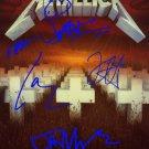 metallicamasterofpuppets Autographed Preprint Signed Photo