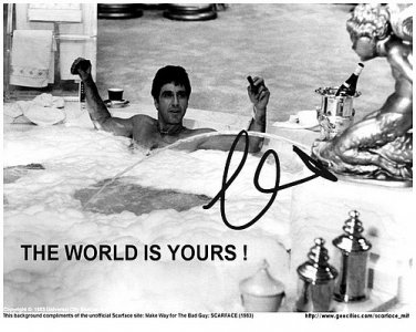 pacinow_SCARFACE_tub Autographed Preprint Signed Photo