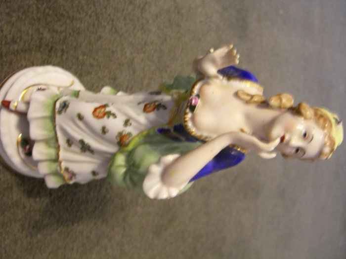 Occupied in Japan Porcelain Maruyama Figurine Set w/ Gold