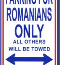 Romania Parking Sign