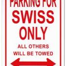 Switzerland Parking Sign