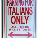 Italy Parking Sign