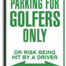 Golfers Parking Sign