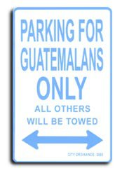 Guatemala Parking Sign