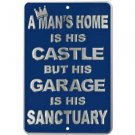Man's Home Is His Castle Parking Sign