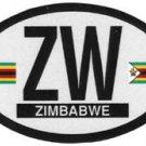 Zimbabwe Oval Decal