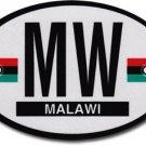 Malawi Oval Decal (2010-2012)