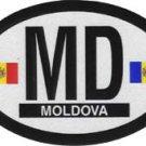 Moldova Oval decal