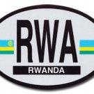 Rwanda Oval decal