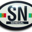 Senegal Oval decal