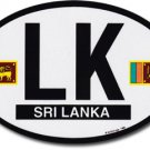 Sri Lanka Oval decal