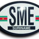 Suriname Oval decal