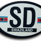 Swaziland Oval Decal