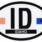 Idaho Oval decal