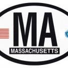 Massachusetts Oval decal