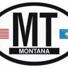 Montana Oval decal
