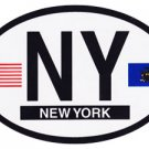 New York Oval decal
