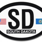 South Dakota Oval decal