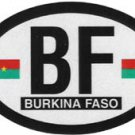 Burkina Faso Oval decal