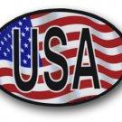USA Wavy oval decal
