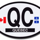 Quebec Oval decal