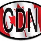 Canada Wavy Oval Decal