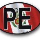 Peru Wavy oval decal