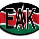 Kenya Wavy oval decal