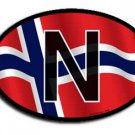 Norway Wavy oval decal