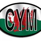 Wales Wavy Oval Decal