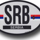 Serbia Oval decal