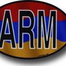 Armenia Wavy oval decal