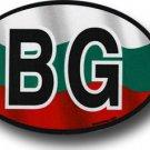 Bulgaria Wavy oval decal