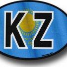 Kazakhstan Wavy oval decal