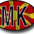 Macedonia, Republic of Wavy oval decal