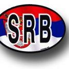 Serbia Wavy oval decal