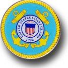 "Coast Guard - 2.75"""" Circular Domed Sticker"