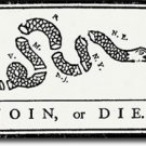 """Join or Die - 4""""""""X6"""""""" Auto Decal"""