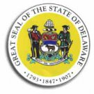 "Delaware - 3.5"""" State Seal"