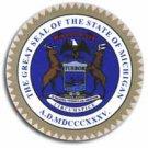 "Michigan - 3.5"""" State Seal"